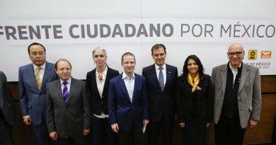 Formalizan alianza PAN, PRD y PMC