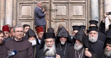 Cierran Basílica del Santo Sepulcro en protesta por actos de Israel