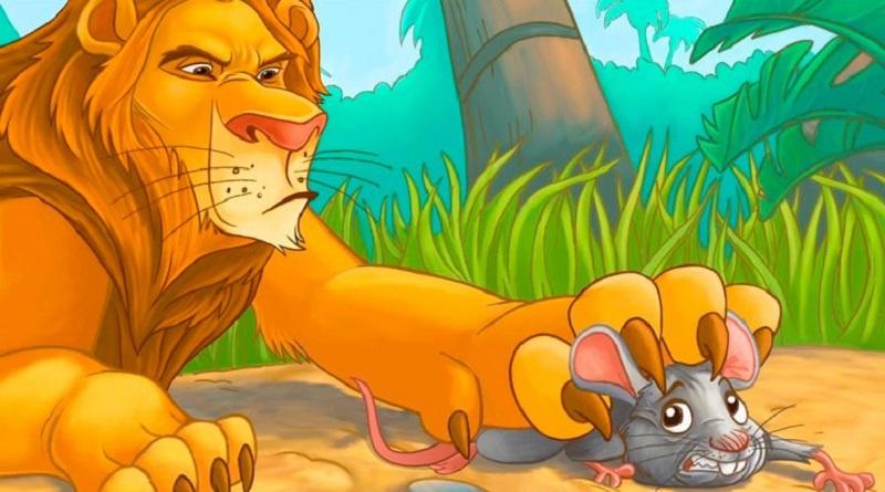 """La virtud de la gratitud. La fábula de Esopo de """"El león y el ratón"""""""