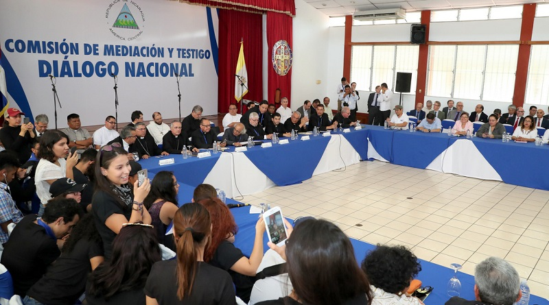 Inicia diálogo nacional para resolver crisis en Nicaragua