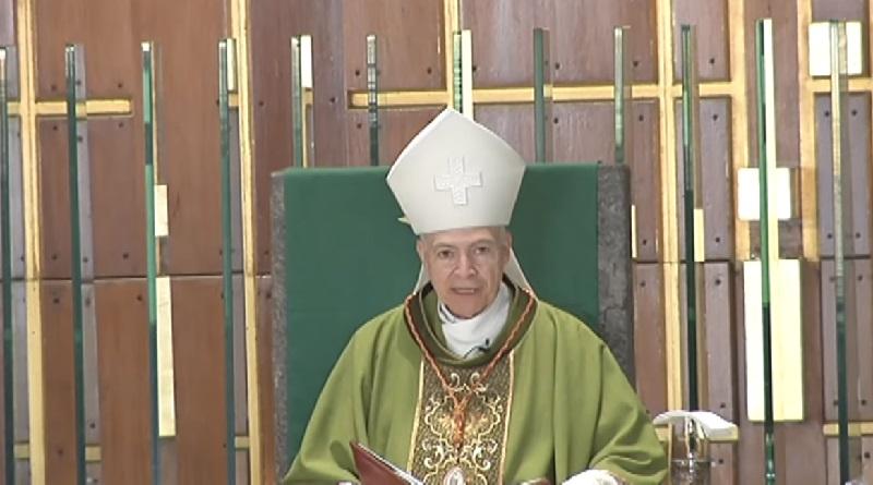 Urge Monseñor Aguiar Retes a rezar por la paz social de México