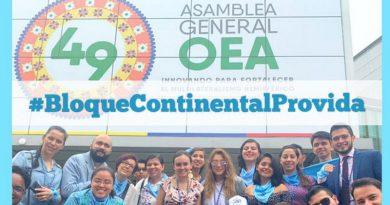 #BloqueContinentalProvida; 49 Asamblea General OEA 2019