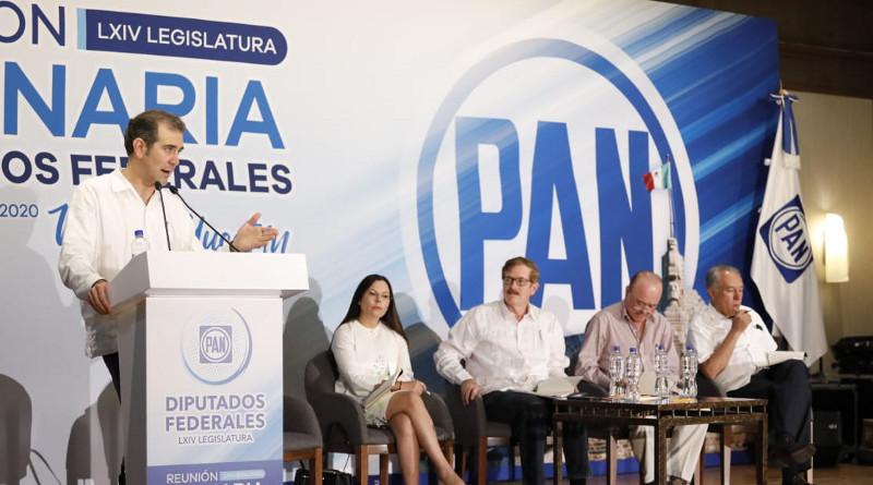 Conferencia de Lorenzo Córdova Vianello,Consejero Presidente del INE en la reunión plenaria de los diputados del Partido Acción Nacional (PAN); Mérida, Yucatán, 2020