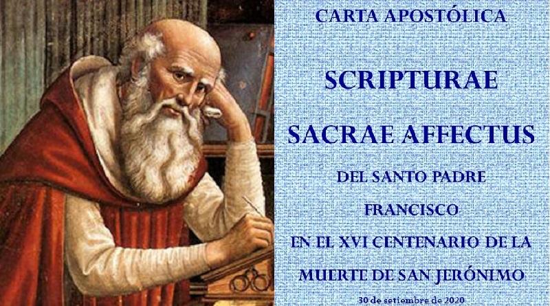 Carta Scripturae sacrae affectus: una invitación urgente del Papa Francisco a los católicos a redescubrir sus raíces cristianas y traducir la al mundo de hoy.