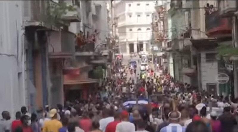 Cuba vive protestas inéditas; Junio 2021.